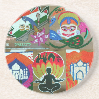 Ethnic Indian design Beverage Coasters