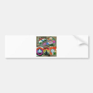 Ethnic Indian design Bumper Sticker