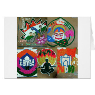 Ethnic Indian design Card