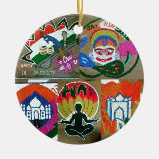 Ethnic Indian design Ceramic Ornament