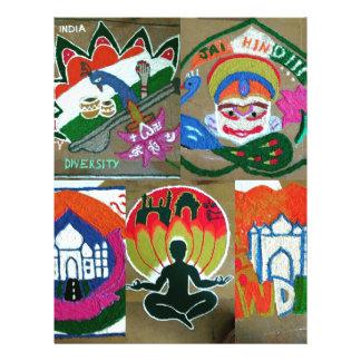 Ethnic Indian design Letterhead