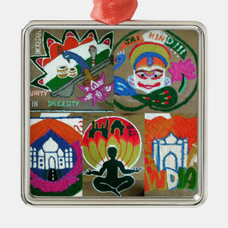 Ethnic Indian design Metal Ornament