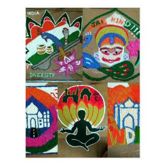 Ethnic Indian design Postcard