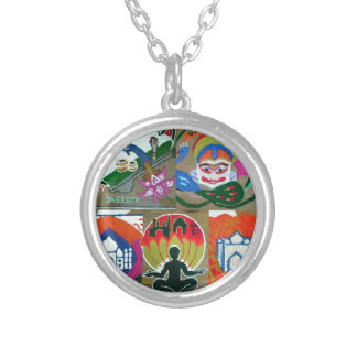 Ethnic Indian design Silver Plated Necklace