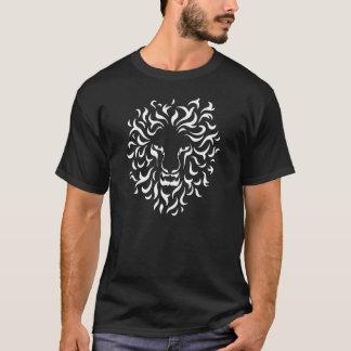 Ethnic Lion Head. Color white. T-Shirt