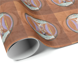 Ethnic Look in Rust Tones Wrapping Paper