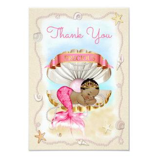 Ethnic Mermaid Princess Clam Shell Thank You Card