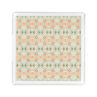 Ethnic Moroccan Motifs Seamless Pattern 18 Serving Tray