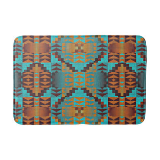 Ethnic Native American Indian Tribal Pattern Art Bath Mat