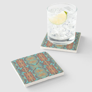 Ethnic Native American Indian Tribal Pattern Art Stone Coaster
