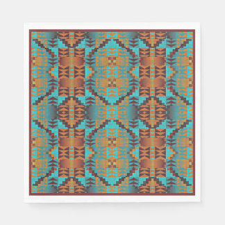 Ethnic Native American Indian Tribal Pattern Napkin