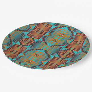 Ethnic Native American Indian Tribal Pattern Paper Plate