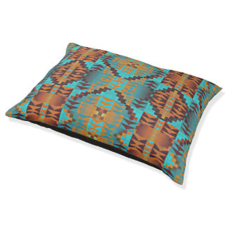 Ethnic Native American Indian Tribal Pattern Pet Bed