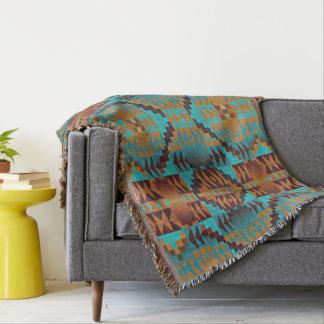 Ethnic Native American Indian Tribal Pattern Throw Blanket