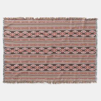 ethnic navajo southwestern pattern throw blanket