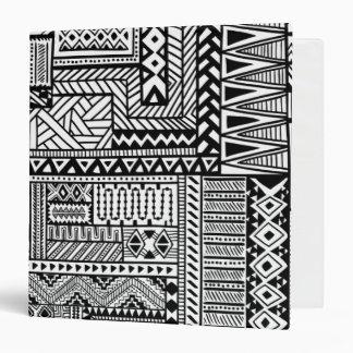 Ethnic Ornament Vinyl Binders