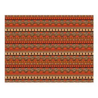 Ethnic ornamental pattern postcard