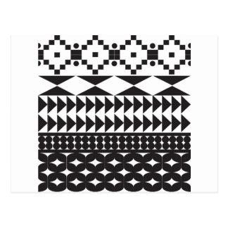 Ethnic pattern postcards