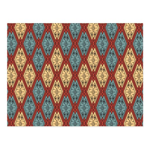 Ethnic Pattern - Summer Time Post Cards