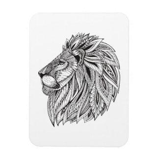 Ethnic Patterned Lion Head Magnet