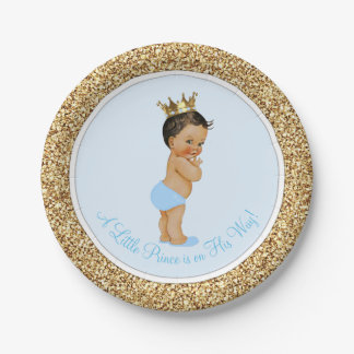 Ethnic Prince Baby Shower 7 Inch Paper Plate