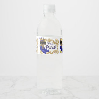 Ethnic Prince Baby Shower Water Bottle Labels