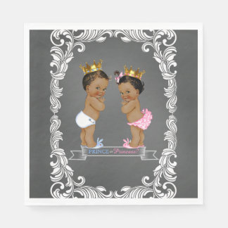 Ethnic Prince Princess Gender Reveal Disposable Napkins