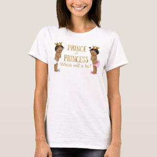 Ethnic Prince Princess Gender Reveal T-Shirt