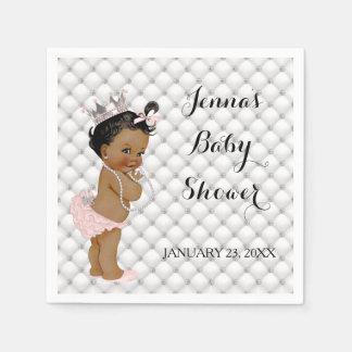 Ethnic Princess Baby Girl Diamonds Paper Napkin