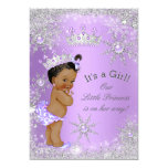 "Ethnic Princess Baby Shower Lavender Wonderland 5"" X 7"" Invitation Card"