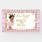 Ethnic Princess Baby Shower Pink Gold Tutu Banner