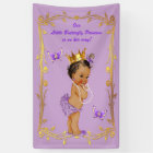 Ethnic Princess Butterflies Lavender Baby Shower Banner