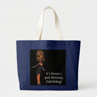 Ethnic Princess Diva Black Tote Bag