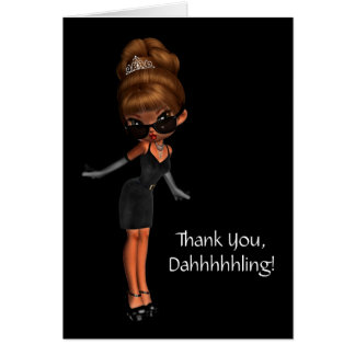Ethnic Princess Diva  Womans Thank You Card