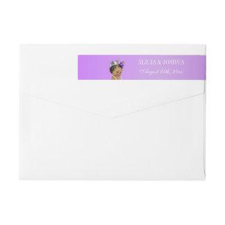 Ethnic Princess Lavender Baby Wrap Around Label