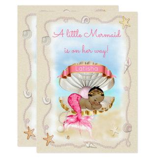 Ethnic Princess Mermaid Name on Clam Shell Card