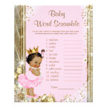 Ethnic Princess Tutu Baby Shower Games Personalized Flyer