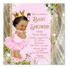 Ethnic Princess Tutu Pink Gold Baby Shower Card