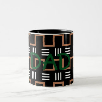Ethnic print dad mug