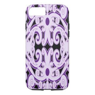 Ethnic purple pattern iPhone 7 case