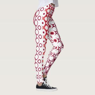 Ethnic Red White #1 Vitaleg Leggings