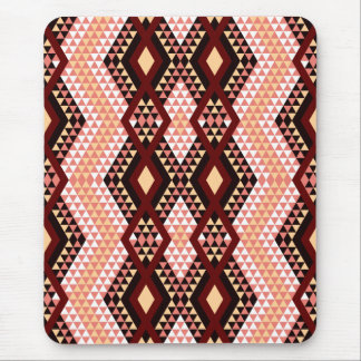 Ethnic rhombus Andes design pink and scarlet Mouse Pad