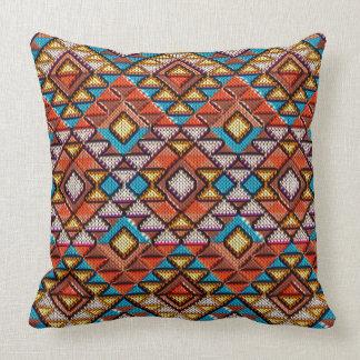 "Ethnic Rhombuses  pattern Pillow 20"" x 20"""