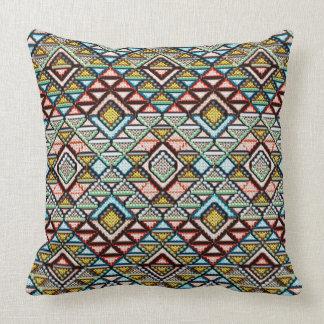 "Ethnic Rhombuses  pattern Throw Pillow 20"" x 20"""