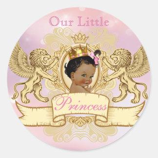 Ethnic Royal Princess favor sticker