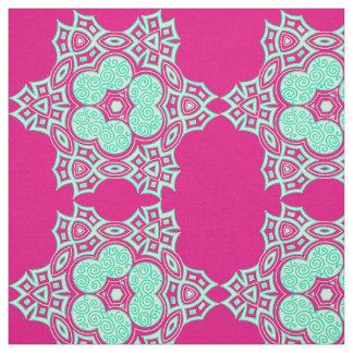 Ethnic sea green design fabric