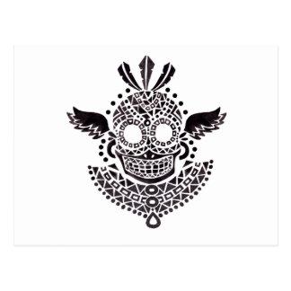 Ethnic Skull Postcard