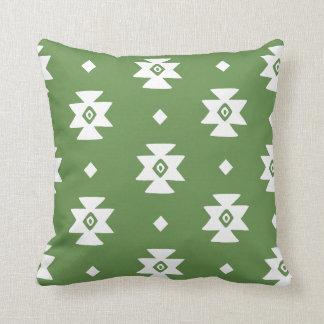Ethnic Slavic native ornament boho bulgarian kilim Throw Pillow