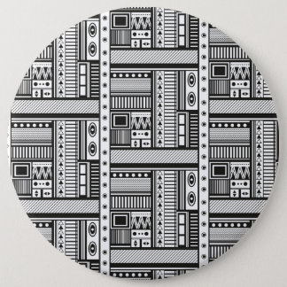 Ethnic style abstract pattern art 6 inch round button