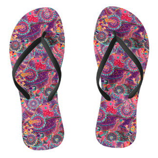 Ethnic Style Animal Pattern Flip Flops